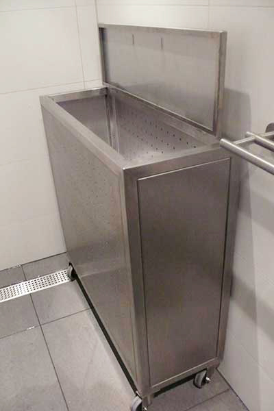 Badkamerkast Met Wasmand.240 Rvs Design Staand Wasmand Badkamer Badkamer Hoek Natuurlijke